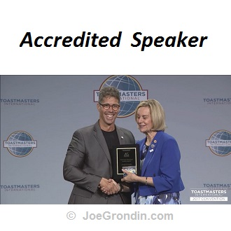 Joe Grondin - Accredited Speaker